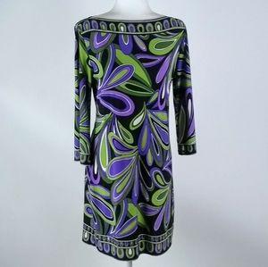 Sandra Darren bright graphic dress size 6